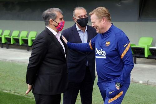 خوان لابورتا: علاقتي مع المدرب رونالد كومان شديدة الانسيابية