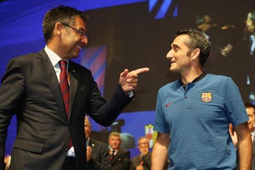 رئيس برشلونة: فالفيردي هو المدرب الذي نريد ونحن سعداء به