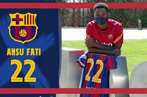 برشلونة يعتمد رسميا عقد نجمه الشاب أنسو فاتي