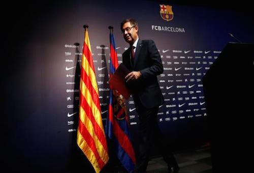 رئيس برشلونة يوجه رسالة مبطنة لريال مدريد