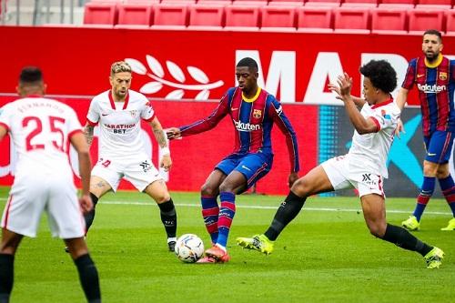 برشلونة يهزم مضيفه إشبيلية بهدفين نظيفين ويستعيد وصافة الدوري الإسباني